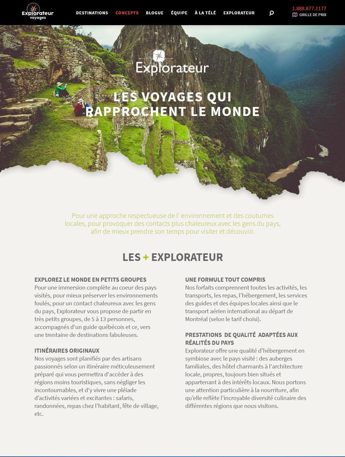 Explorateur Voyages - Portfolio 2 Tektonik