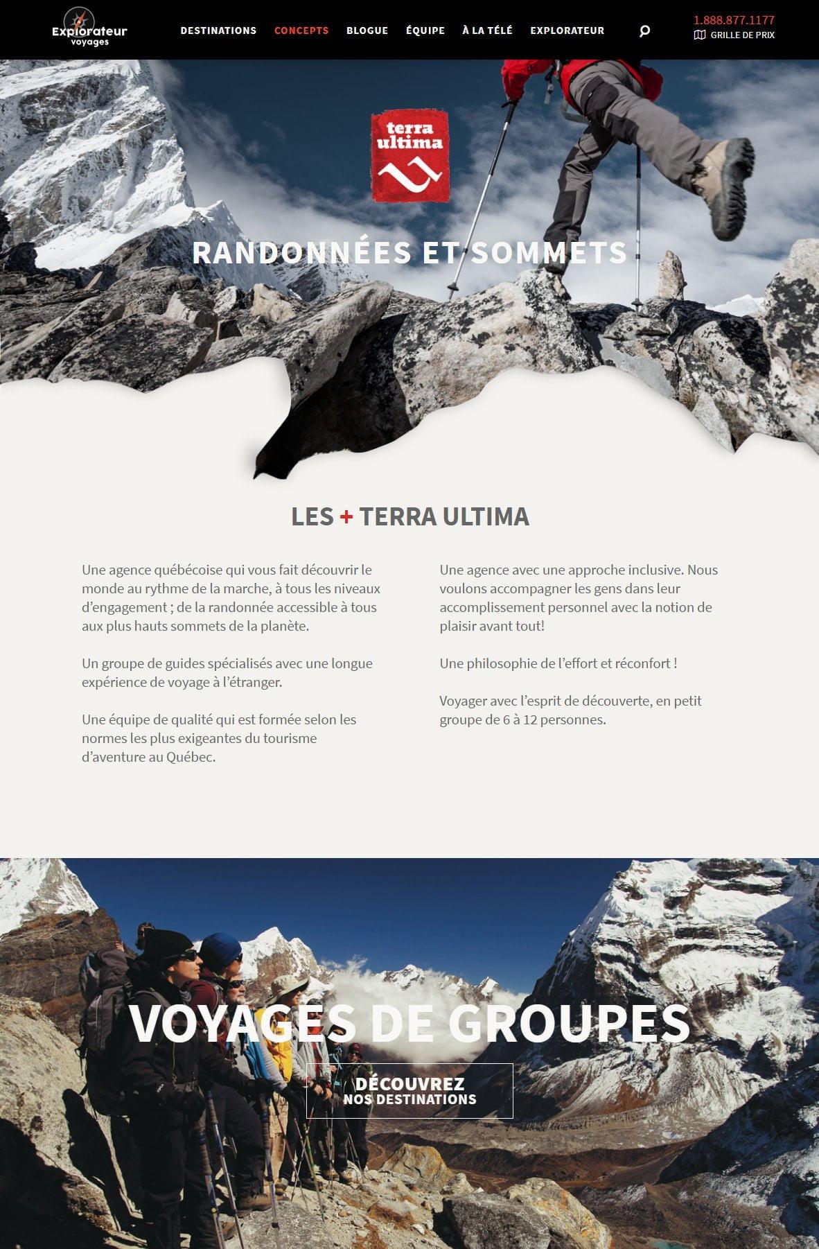 Explorateur Voyages - Portfolio 3 Tektonik