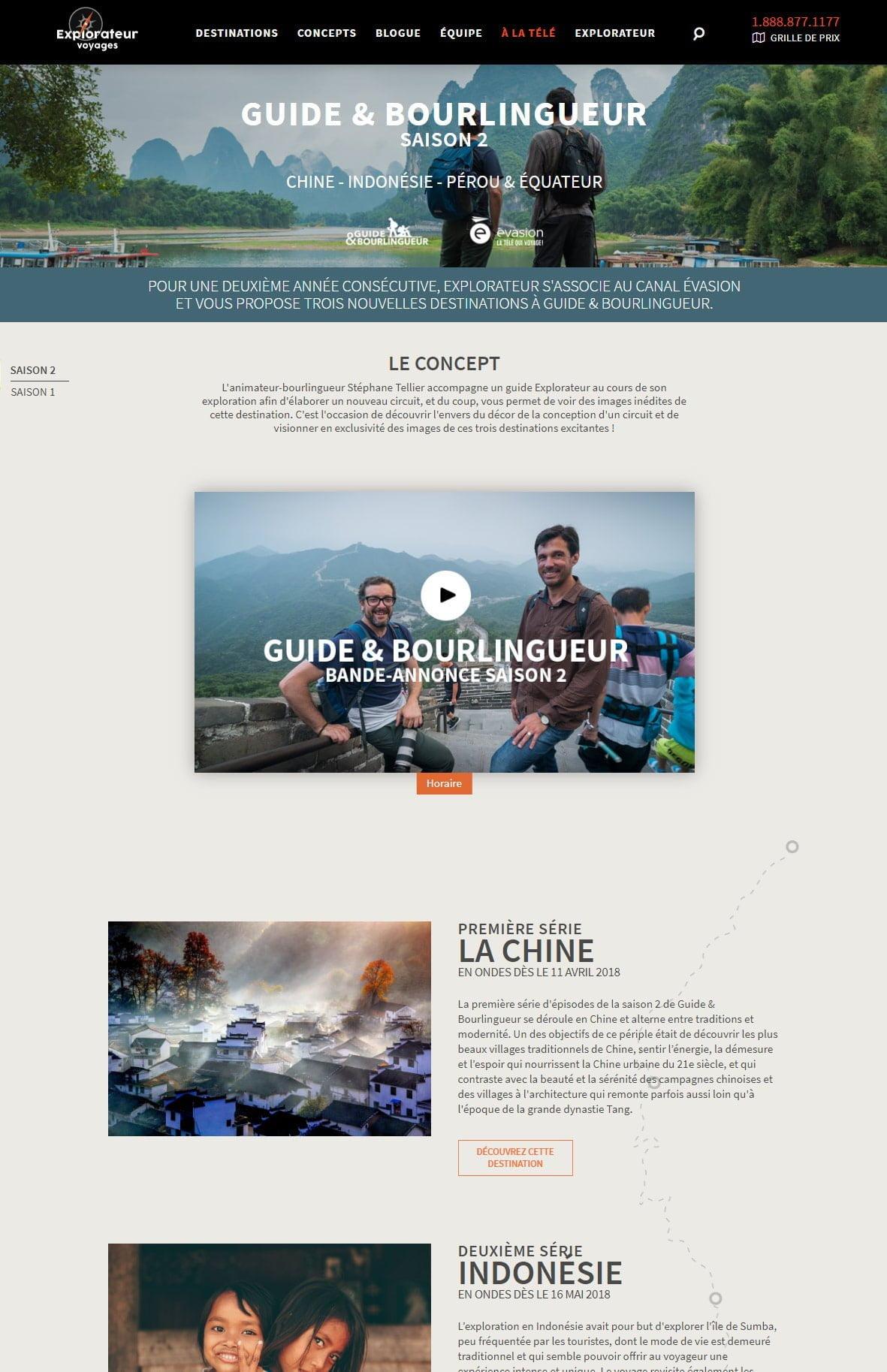 Explorateur Voyages - Portfolio 4 Tektonik