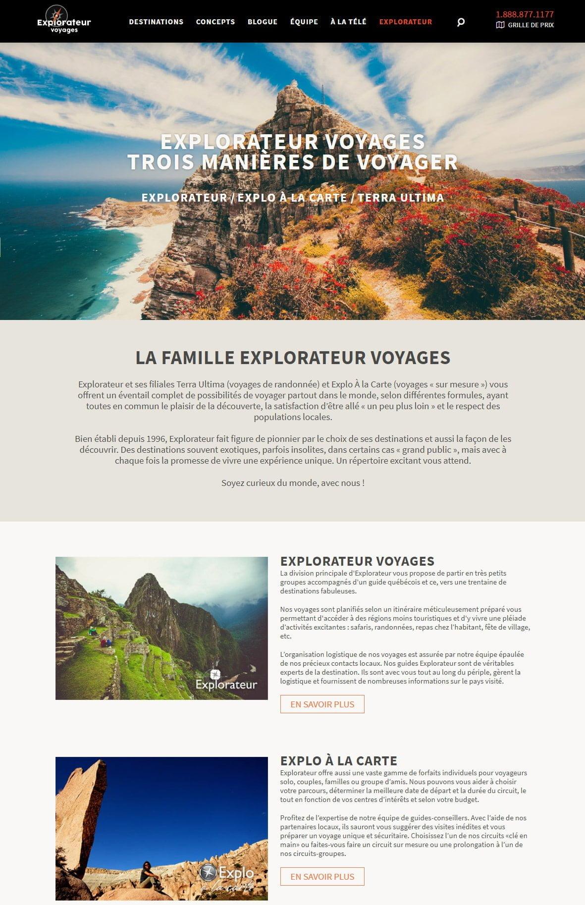 Explorateur Voyages - Portfolio 5 Tektonik